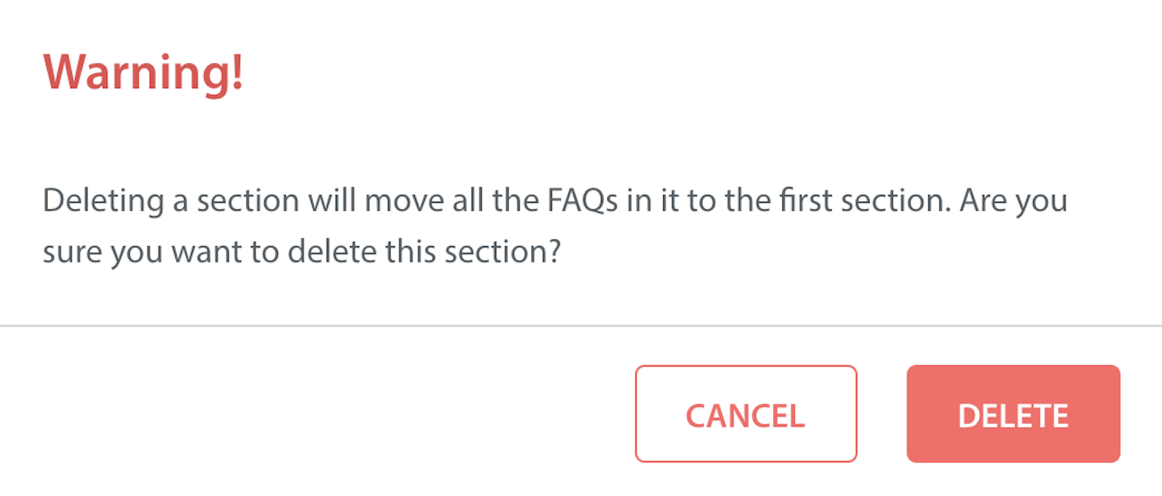 How do I remove an FAQ Section or Article? - Helpshift