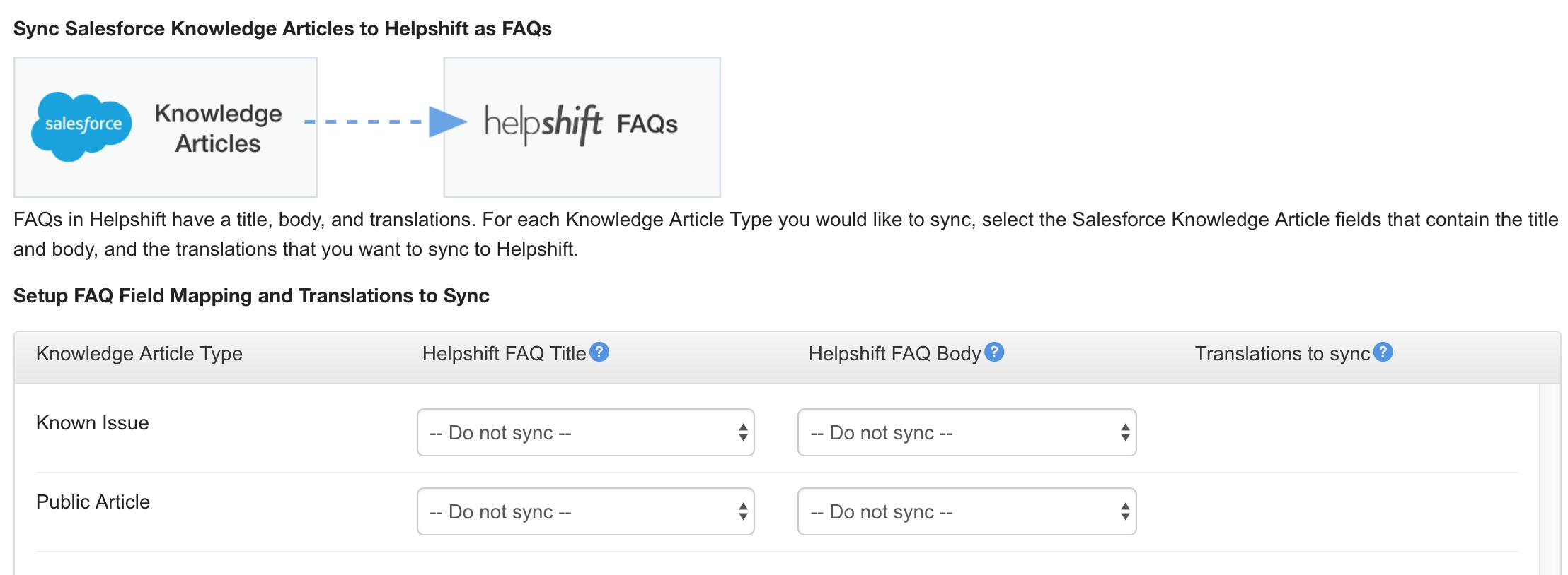 Guide: Salesforce Integration - Helpshift Knowledge Base