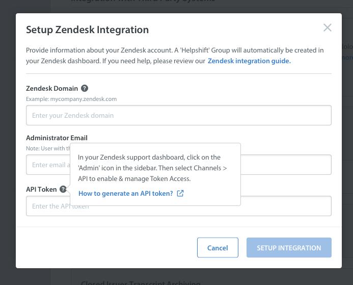 Guide: Zendesk Integration - Helpshift Knowledge Base