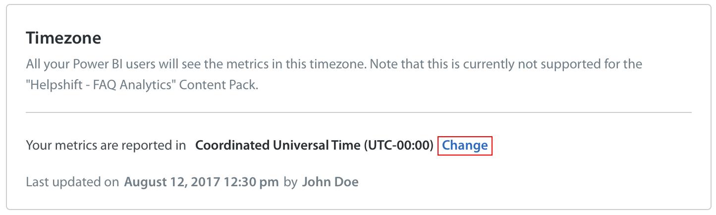 How do I set my time zone in Power BI? - Helpshift Knowledge
