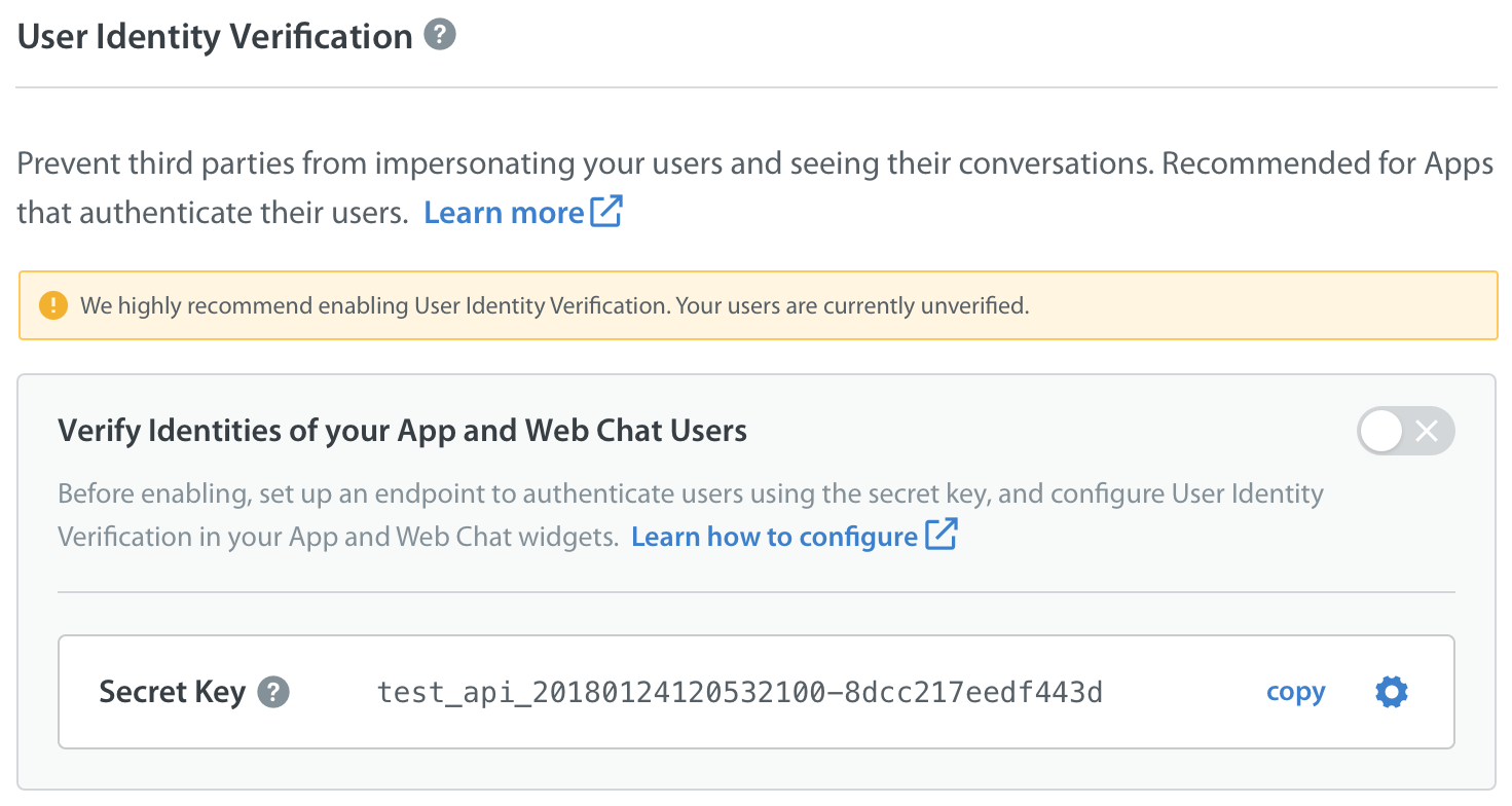 How do I configure the endpoint and my app / Web Chat widget for
