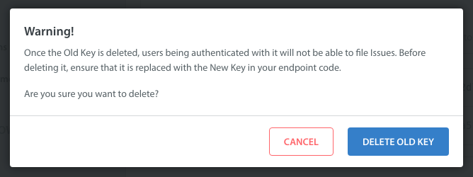 What do I do if my User Identification secret key is