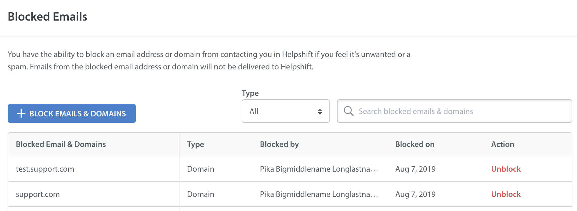 How Do I Block Email Domains Helpshift Knowledge Base Helpshift Knowledge Base